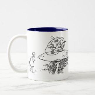 Advice From a Caterpillar Two-Tone Coffee Mug