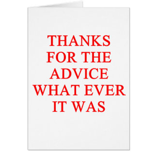 ADVICE joke Greeting Card