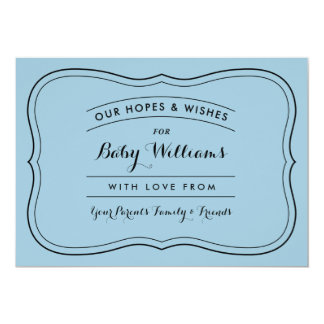 Advice & Wishes for Baby Cards for Custom Colors 13 Cm X 18 Cm Invitation Card