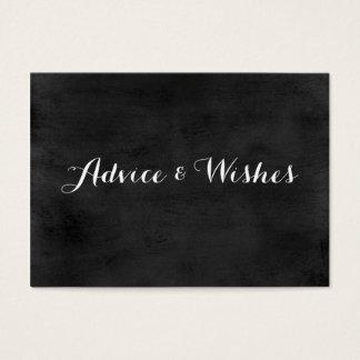 Advice & Wishes Wedding Cards | Chalkboard