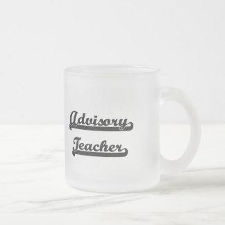 Advisory Teacher Artistic Job Design Frosted Glass Mug