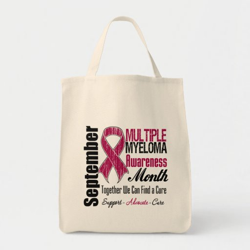 Advocacy For Multiple Myeloma Awareness Month Canvas Bags