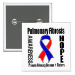Advocacy Matters Pulmonary Fibrosis 15 Cm Square Badge