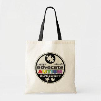 Advocate Autism Awareness Tote Bag