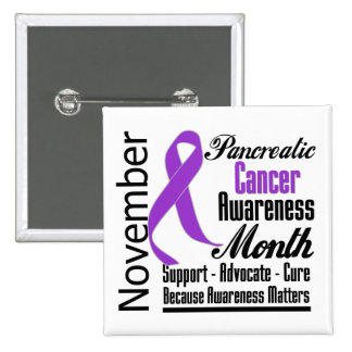 Advocate - Pancreatic Cancer Awareness Month 15 Cm Square Badge