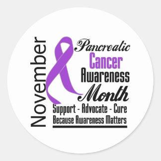 Advocate - Pancreatic Cancer Awareness Month Round Sticker