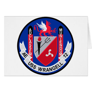 AE-12 USS Wrangell Ammunition Ship Military Patch Greeting Cards