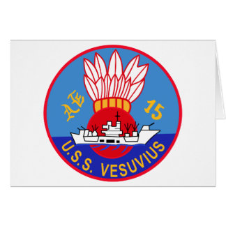 AE-15 USS Vesuvius Ammunition Ship Military Patch Cards