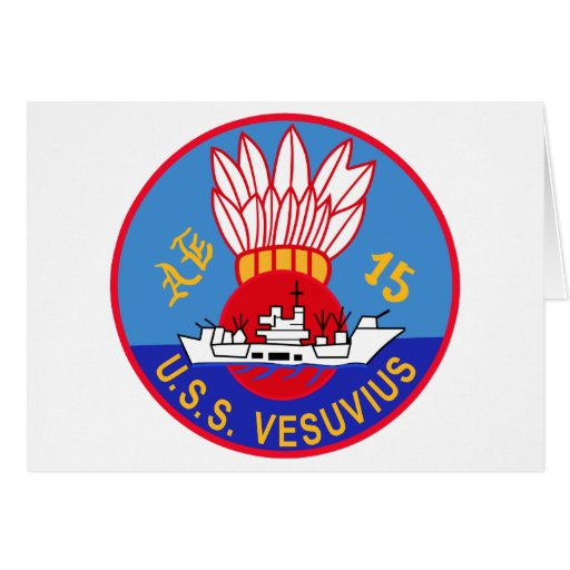 AE-15 USS Vesuvius Ammunition Ship Military Patch Cards