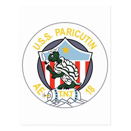 AE-16 USS MOUNT KATMAI Ammunition Ship Patch Postcards