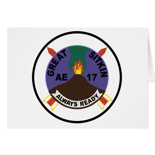 AE-17 USS Great Sitkin Ammunition Ship Patch Greeting Cards