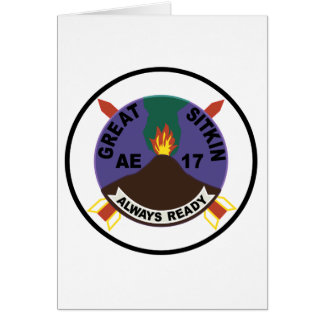 AE-17 USS Great Sitkin Ammunition Ship Patch Greeting Card
