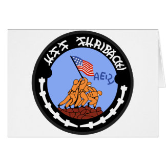 AE-21 USS Suribachi Ammunition Ship Military Patch Greeting Card