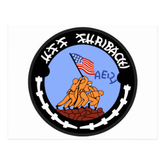 AE-21 USS Suribachi Ammunition Ship Military Patch Postcard
