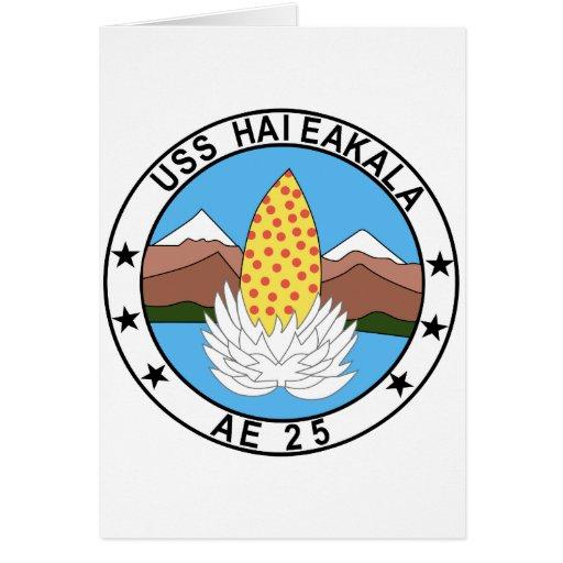 AE-25 USS Haleakala Ammunition Ship Military Patch Greeting Card