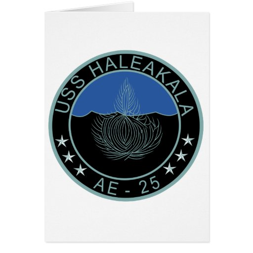 AE-25 USS Haleakala Ammunition Ship Military Patch Card