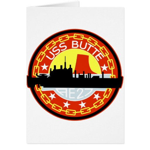 AE-27 USS Butte Ammunition Ship Military Patch Greeting Card
