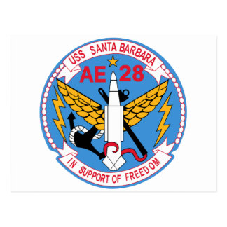 AE-28 USS Santa Barbara Ammunition Ship Military P Postcard