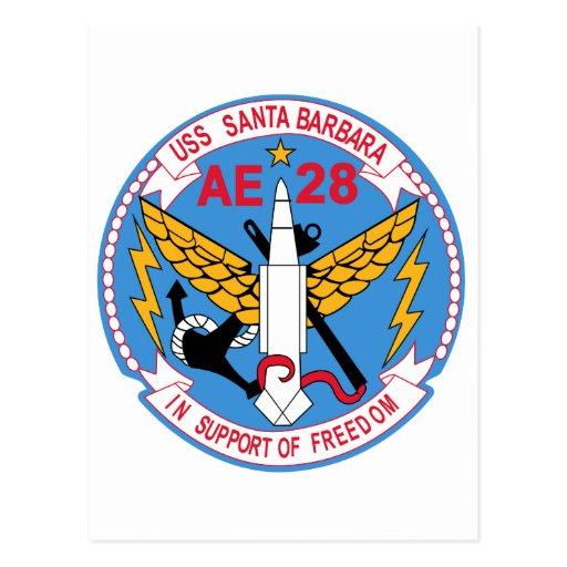 AE-28 USS Santa Barbara Ammunition Ship Military P Postcards