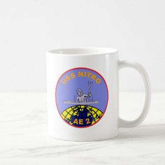 AE-2 USS Nitro Ammunition Ship Military Patch Basic White Mug