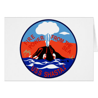 AE-33 USS Shasta Ammunition Ship Military Patch Greeting Card