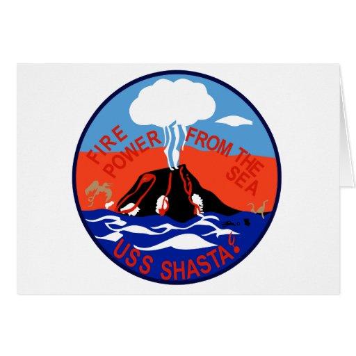 AE-33 USS Shasta Ammunition Ship Military Patch Card