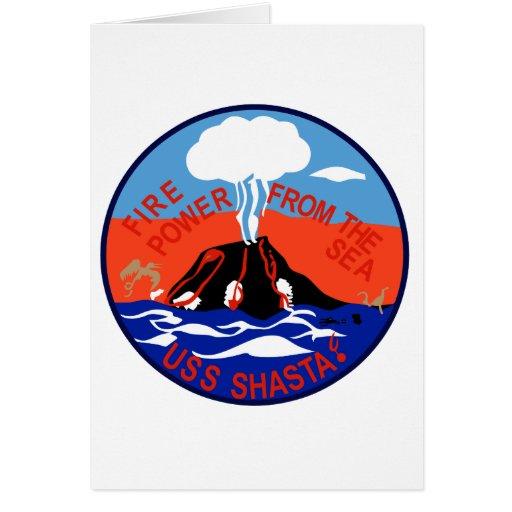 AE-33 USS Shasta Ammunition Ship Military Patch Cards
