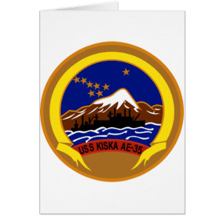 AE-35 USS Kiska Ammunition Ship Military Patch Greeting Card
