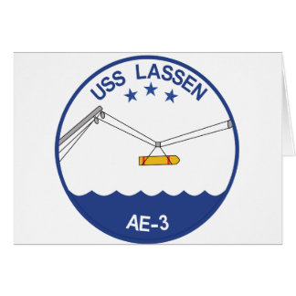 AE-3 USS Lassen Ammunition Ship Military Patch.psd Greeting Card