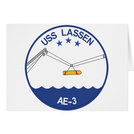 AE-3 USS Lassen Ammunition Ship Military Patch.psd Greeting Cards