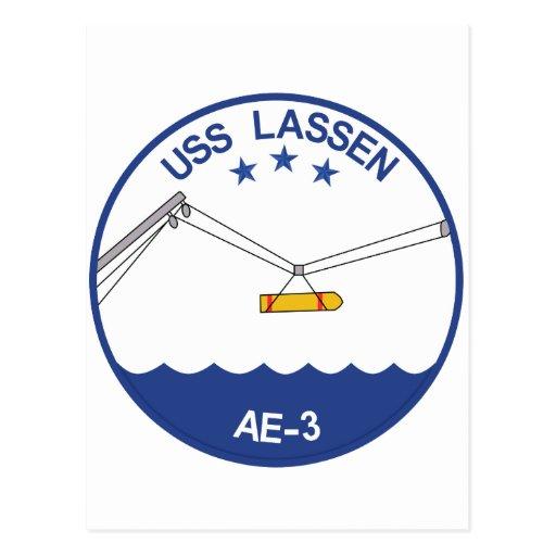 AE-3 USS Lassen Ammunition Ship Military Patch.psd Postcards