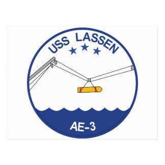 AE-3 USS Lassen Ammunition Ship Military Patch.psd Postcard