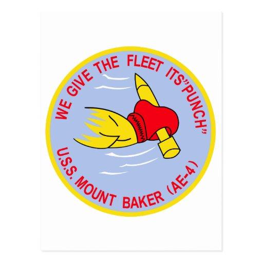 AE-4 USS MOUNT BAKER Ammunition Ship Military Patc Postcards