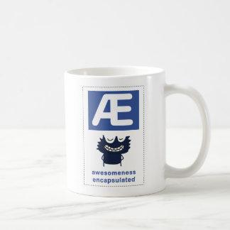 ae: awesomeness encapsulated basic white mug