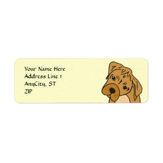 AE- Boxer puppy Pet Address Label