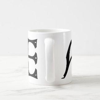 AE Monogram - Initials AE in Gothic Style Letters Basic White Mug