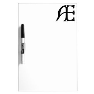 AE Monogram - Initials AE in Gothic Style Letters Dry Erase Whiteboard