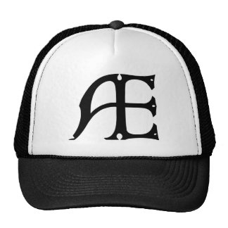 AE Monogram - Initials AE in Gothic Style Letters Hat
