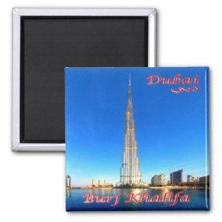 AE - United Arab Emirates - Dubai - Burj Khalifa Square Magnet