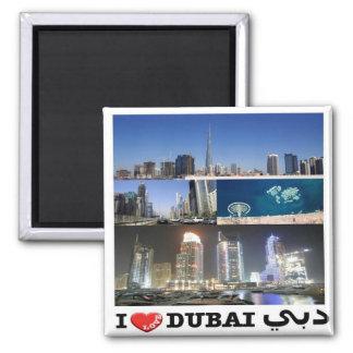 AE United Arab Emirates - Dubai - I Love - Collage Square Magnet