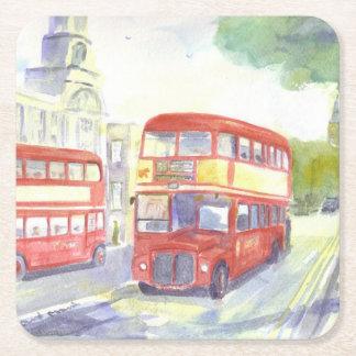 AEC Routemaster bus paper coasters