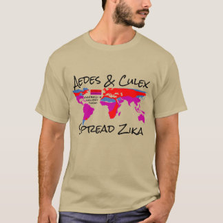 Aedes and Culex Spread Zika Shirt by RoseWrites