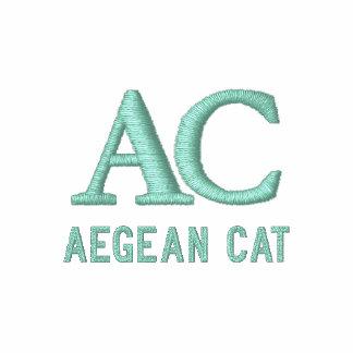 Aegean Cat Monogram Embroidered Shirt