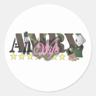 aemy wife classic round sticker