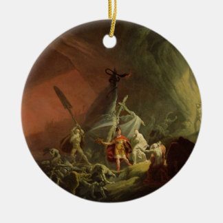 Aeneas and the Sibyl, c.1800 (oil on canvas) Round Ceramic Decoration