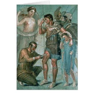 Aeneas injured, from Pompeii Card