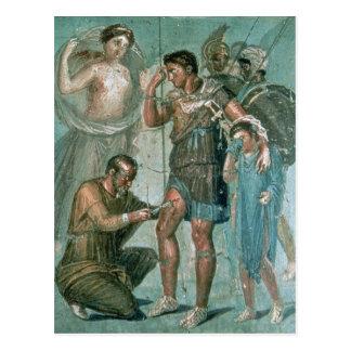 Aeneas injured, from Pompeii Postcard