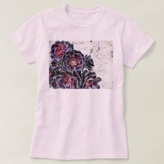 Aeonium Flower On Dry Rocks T Shirt