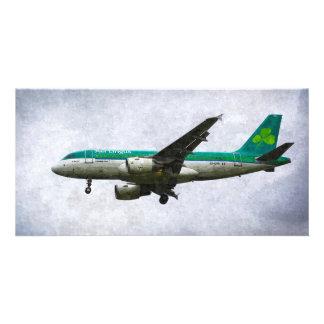 Aer Lingus Airbus A319 Art Customised Photo Card