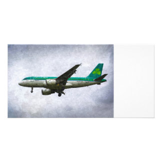 Aer Lingus Airbus A319 Art Picture Card
